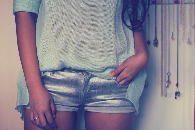Mint + Knit + Transparent + Metallic = Love