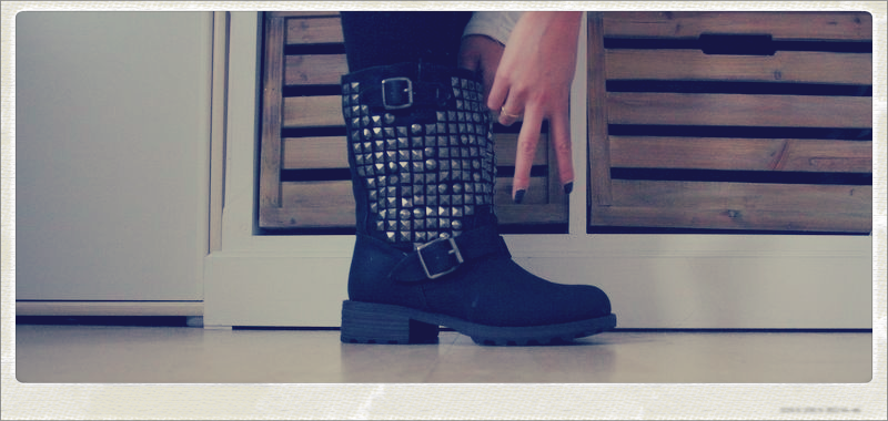 Armani Code & Studded Boots