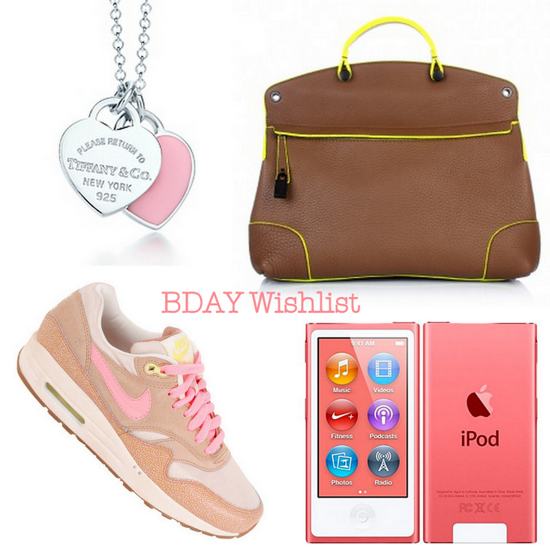 My Bday wishlist…