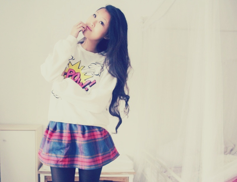 Ka-Pow! – Jumper and Plaid.