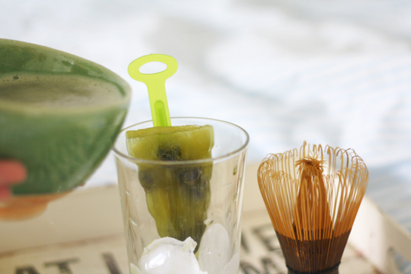 Keep calm and have a matcha ice tea!