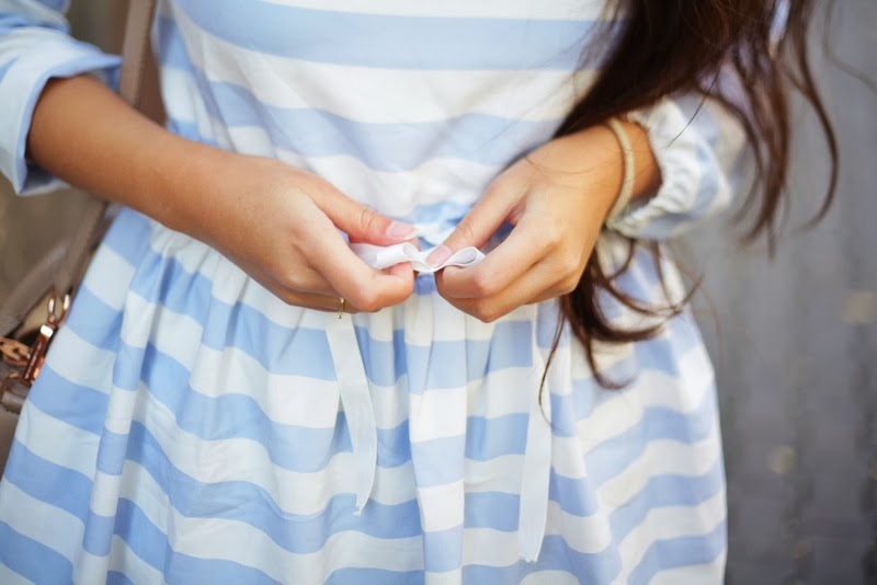 This cute little striped dress…