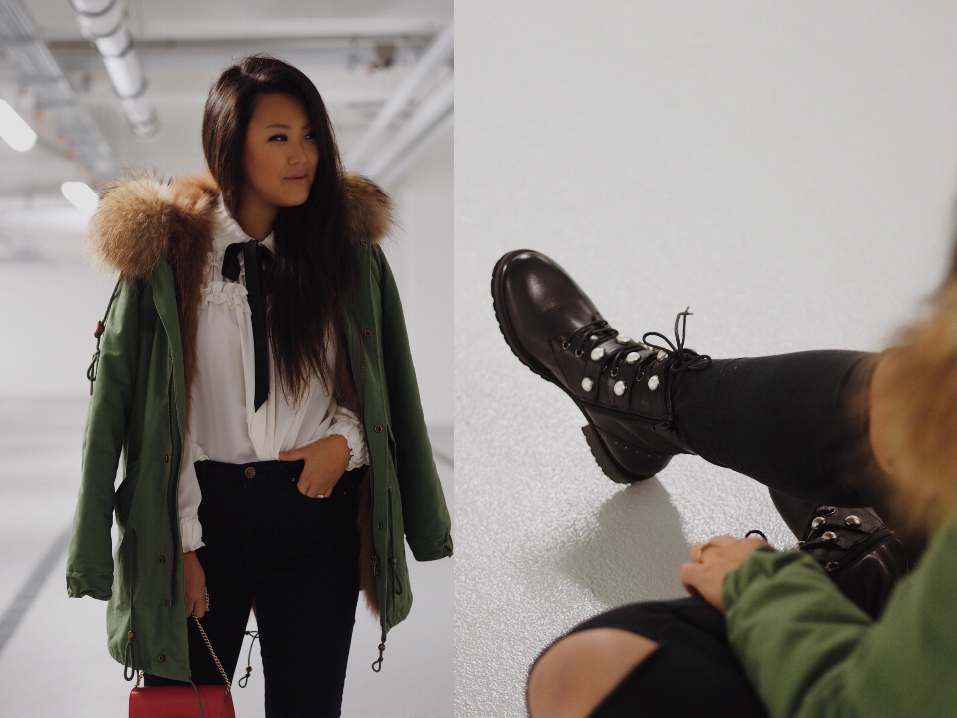 zara perlen boots