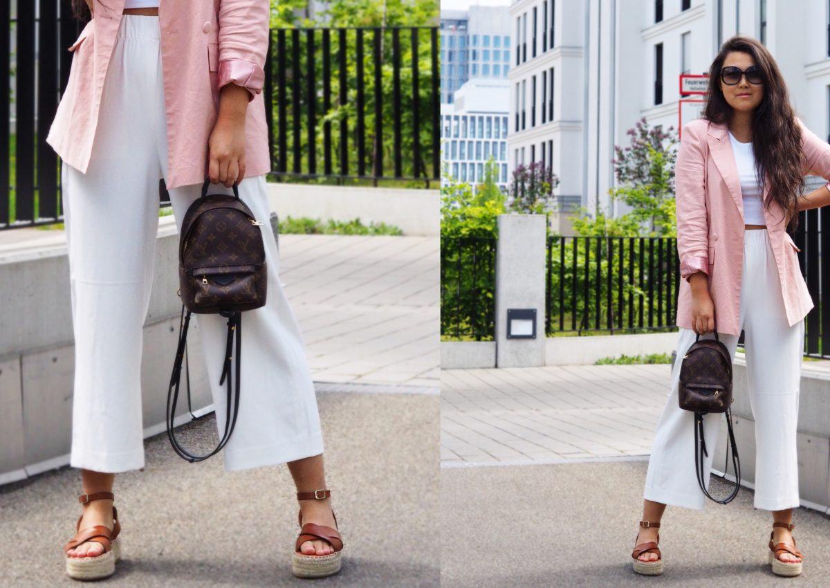 Werbung | Frühlings-Look: weiße Culottes.